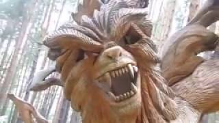 012 Парк деревянные скульптуры России Park wooden sculpture carving резьба по дереву бензопилой арт