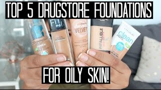 One of Samantha Jane's most viewed videos: Top 5 Drugstore Foundations for Oily Skin! | samantha jane