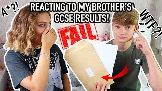 REACTING TO MY BROTHER'S GCSE RESULTS! Did he do BETTER THAN ME?!!