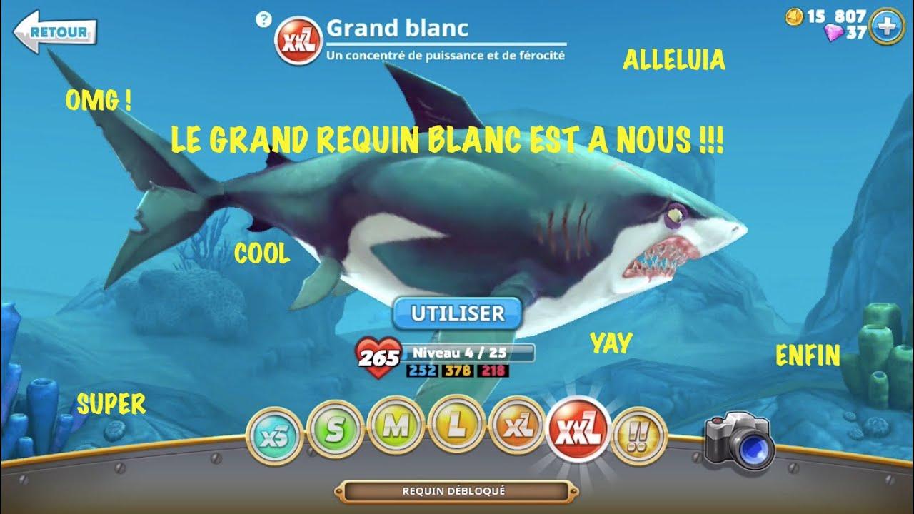 Le grand requin blanc d bloqu hungry shark world 4 youtube - Dessin de grand requin blanc ...