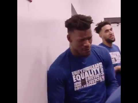 Jimmy Butler Singing His Favorite Country Song In A Hallway With His Teammates Youtube