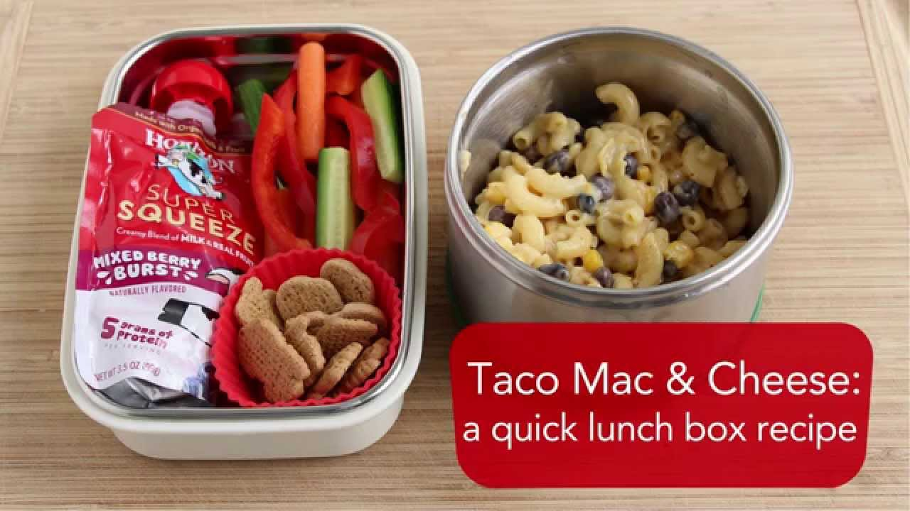 Taco Mac and Cheese: a quick lunch box recipe - YouTube