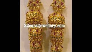 Gold and Diamond Traditional Earrings (jumkas)