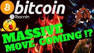 🔥 MASSIVE MOVE FOR BITCOIN COMING !? 🔥bitcoin litecoin price prediction, analysis, news, trading