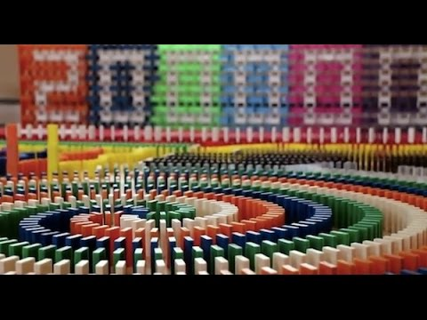 biggest in the world 2015 200000 dominos in a house hd