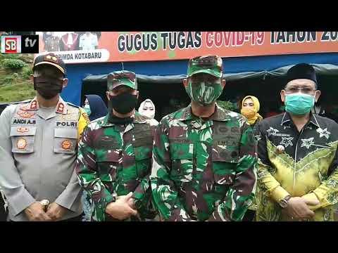 Danrem 101 Antasari Serahkan Bantuan ke Posko Gugus Tugas Covid 19 Kotabaru