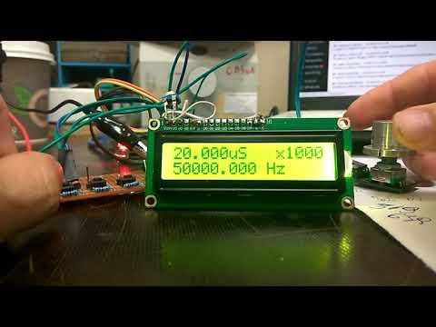 Генератор импульсов от 0.119 Гц до 8 МГц (Arduino)