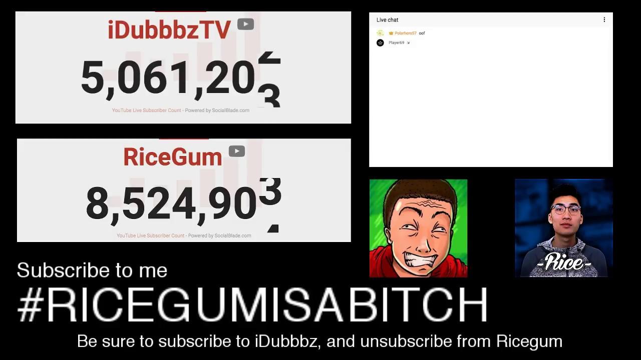 ricegum vs idubbbz subscriber