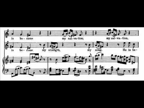 Handel - Israel - Duet: The Lord is my strenght (sopr. I e II) - (score)