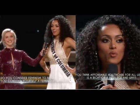 Miss Universe USA 2017 - Kara McCullough's WINNING ANSWERS during Q&A