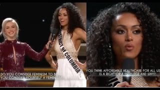 Miss Universe USA 2017 - Kara McCullough's WINNING ANSWERS during Q&A