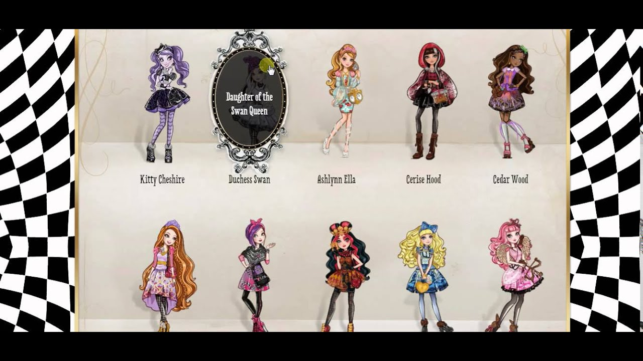 how do you write a character biography of ever after high