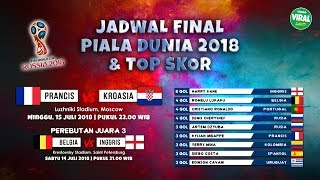 Video Jadwal Final Piala Dunia 2018 Live dan Top Skor Sementara, Prancis vs Kroasia, Belgia vs Inggris download MP3, 3GP, MP4, WEBM, AVI, FLV Agustus 2018