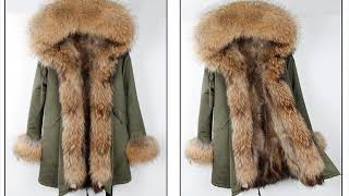 2018 Новая модная Длинная зимняя куртка Для женщин длинные натуральным лисьим мехом пальто Обувь