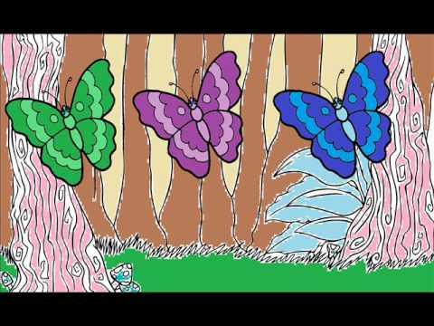 Les papillons de couleurs froides et chaudes youtube - Couleur chaude et froide ...