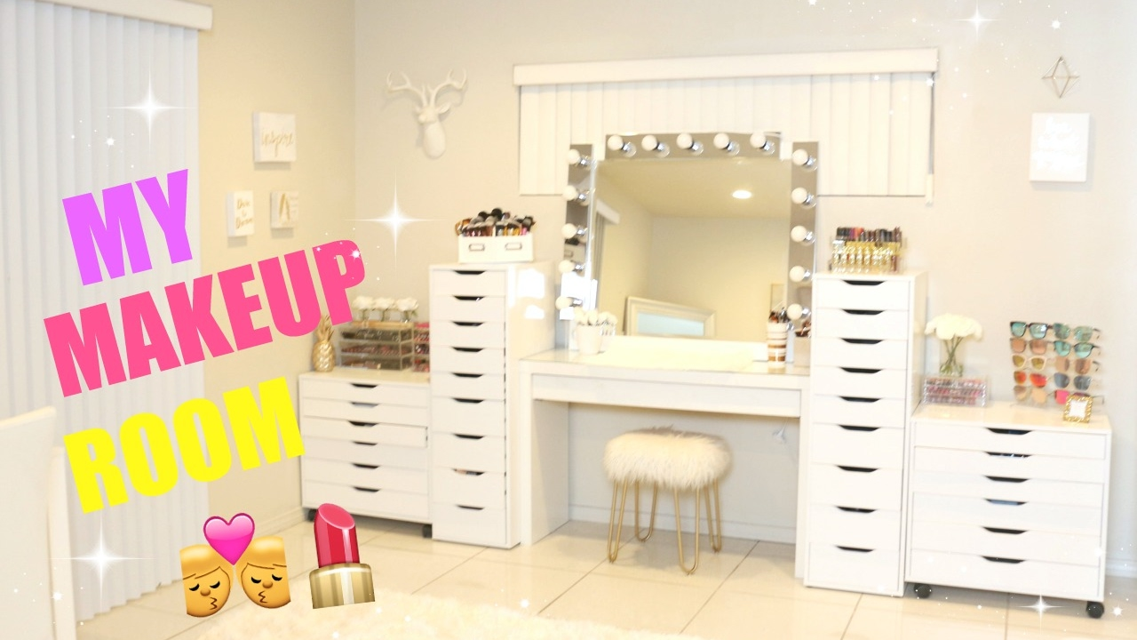 My New Makeup Room !!! - YouTube