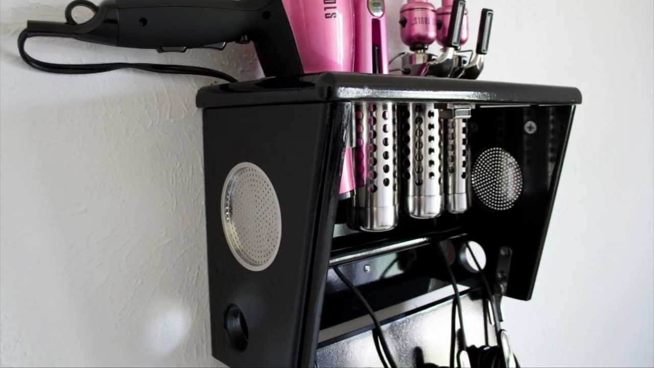 hair styling tools storage vanity valet boutique 5194