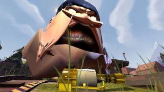 (Gmod) Uncle_Crusty_Famine_and_Pootsworthy_All_Get_Stampeded_by_engineers.Erectin