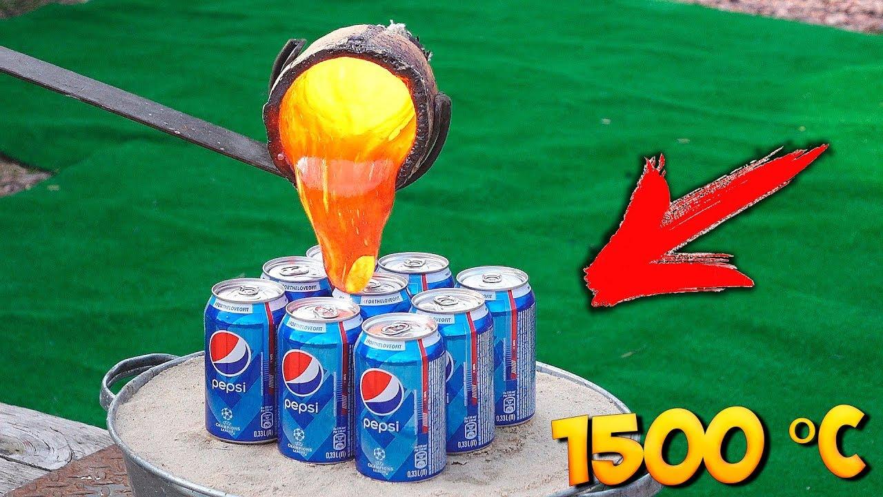 Experiment Lava Vs Pepsi Youtube