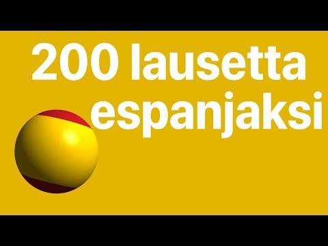 Kiitos Espanjaksi