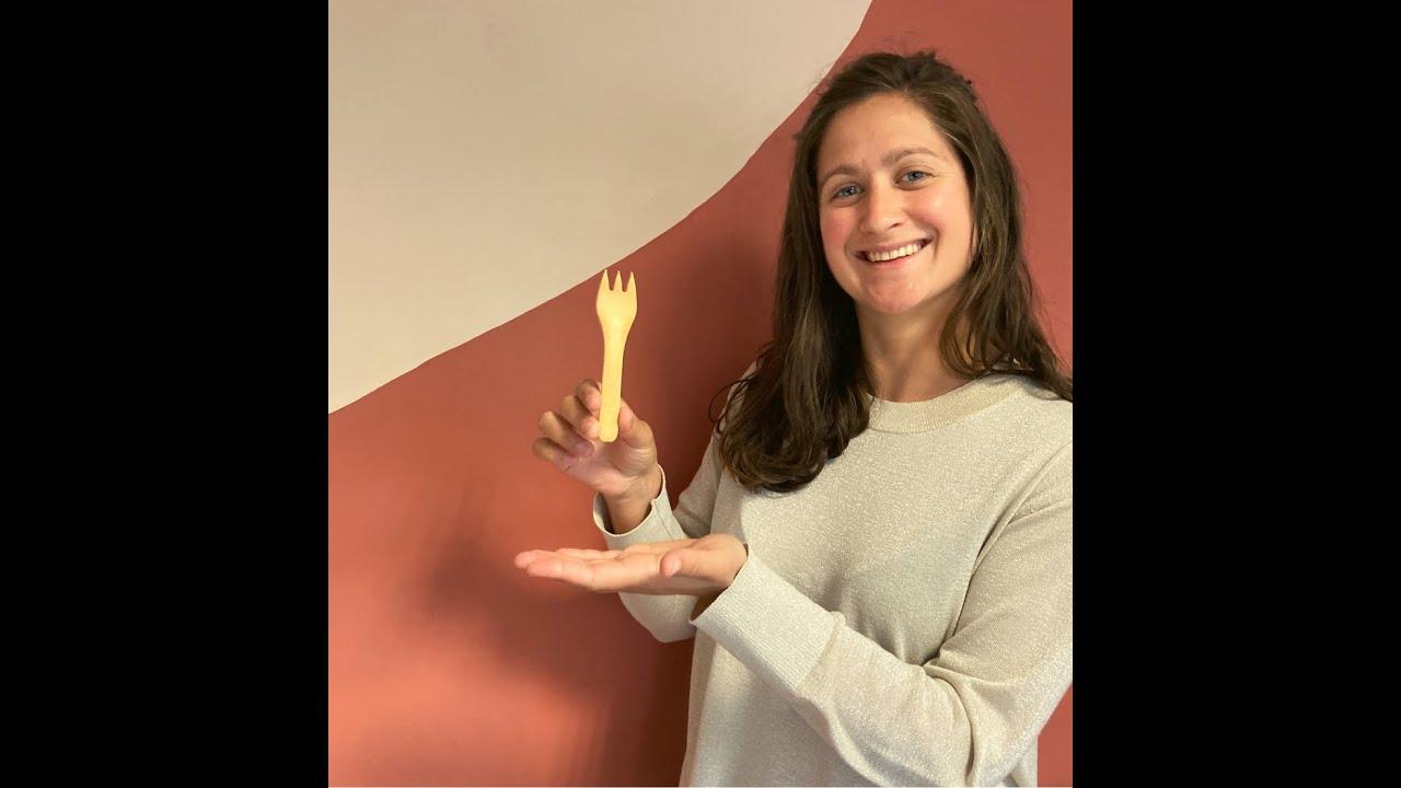 Ensemble cuill/ère et fourchette en silicone de qualit/é alimentaireEnsemble cuill/ère et fourchette en silicone de qualit/é alimentaireCuill/ère et fourchette dexercice auto-alimentantes pour b/éb/é
