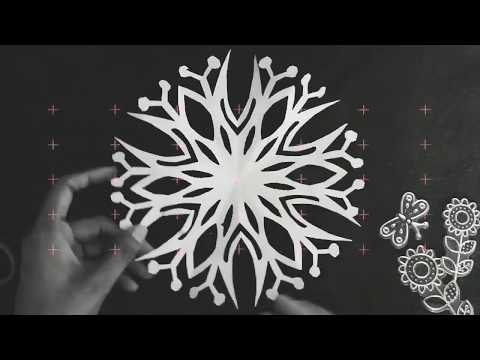 Snowflakes paper design & paper cutting pattern 02