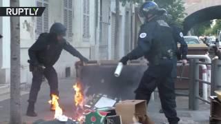 Митинг против Ле Пен в Марселе закончился поджогами и беспорядками