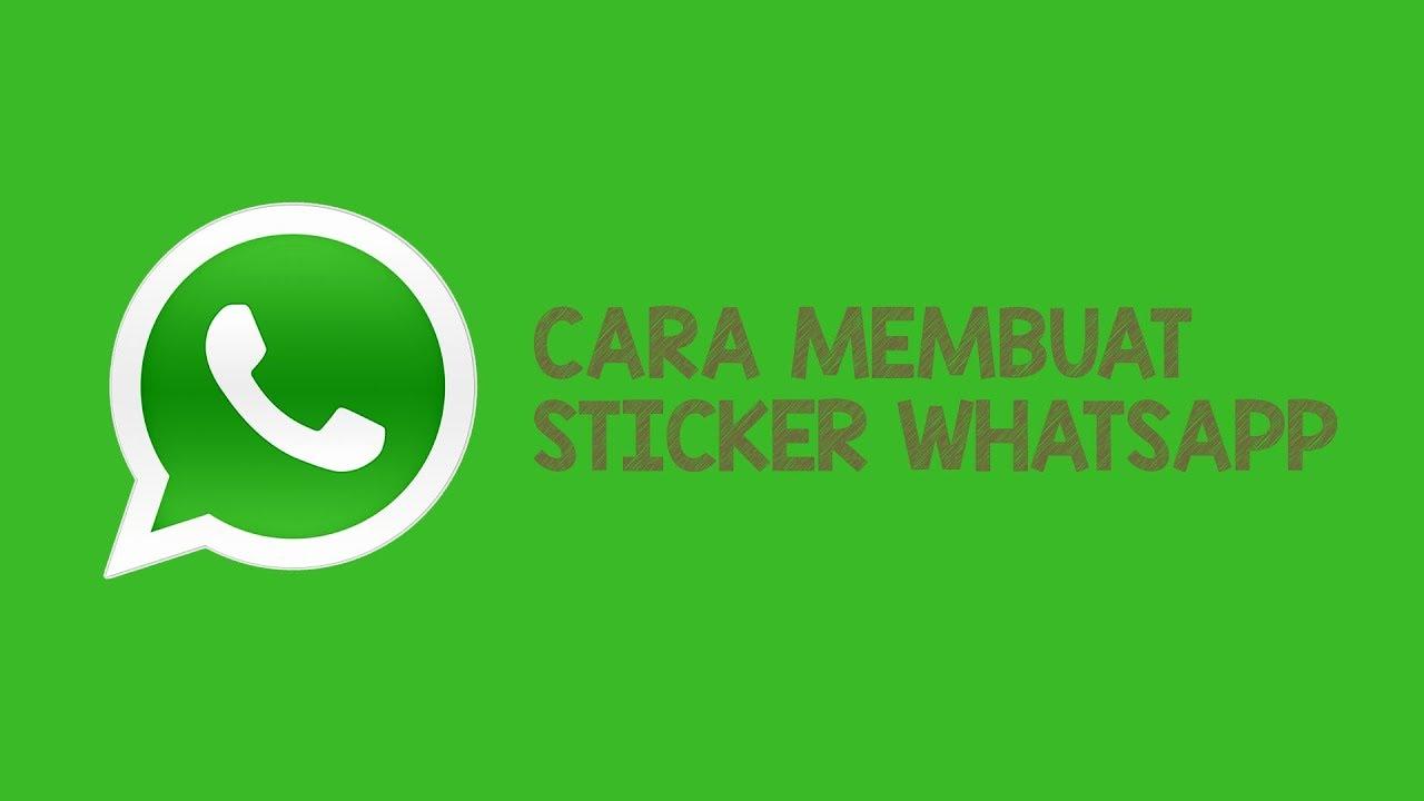 Cara membuat sticker whatsapp youtube