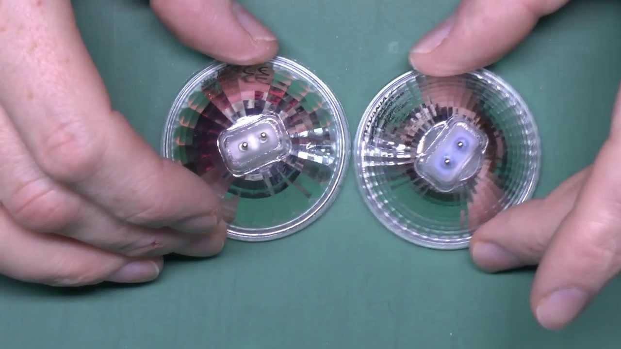 Halogen Downlight Lamps - Dichroic vs Aluminium Reflectors - YouTube