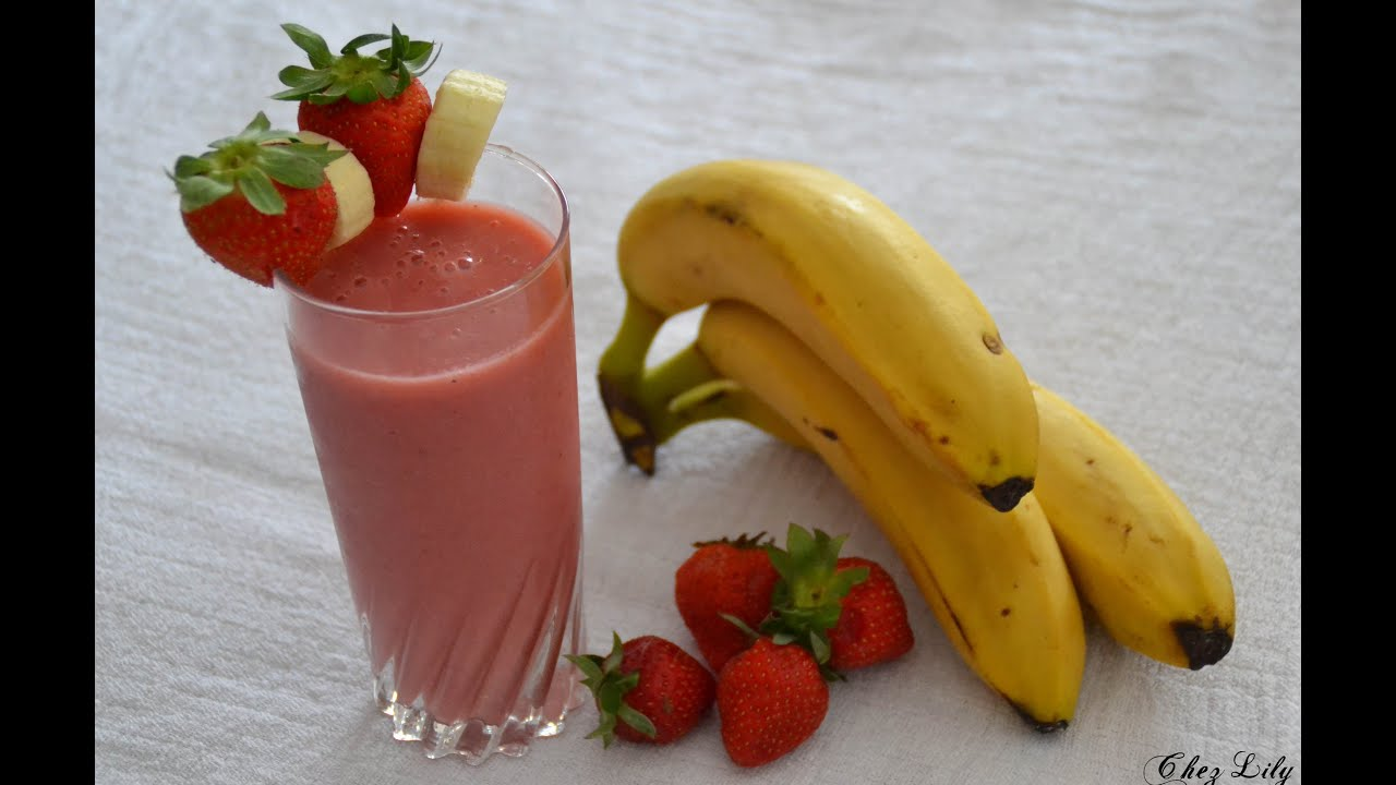 smoothie banane fraise go ter minceur youtube. Black Bedroom Furniture Sets. Home Design Ideas