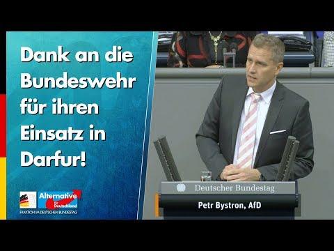 Dank an die Bundeswehr für ihren Einsatz in Darfur! - Petr Bystron - AfD-Fraktion im Bundestag
