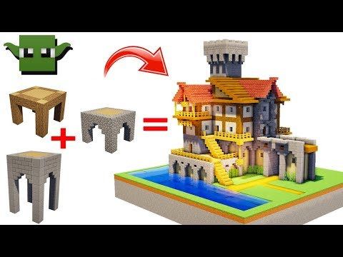 Minecraft Medieval Merchant House (EASY 5X5 BUILDING SYSTEM)