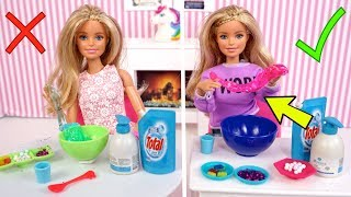 Barbie Twins Telepathy Slime Challenge - Titi Toys & Dolls Barbie Show