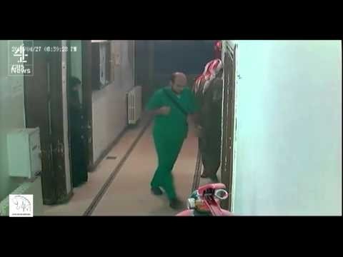 CCTV footage from Al Quds hospital in Aleppo, Syria