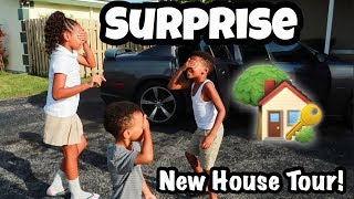 SURPRISING OUR KIDS WITH A NEW HOUSE **EMPTY HOUSE TOUR**