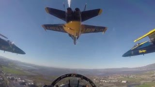 cockpit video of blue angels super bowl 50 flyover