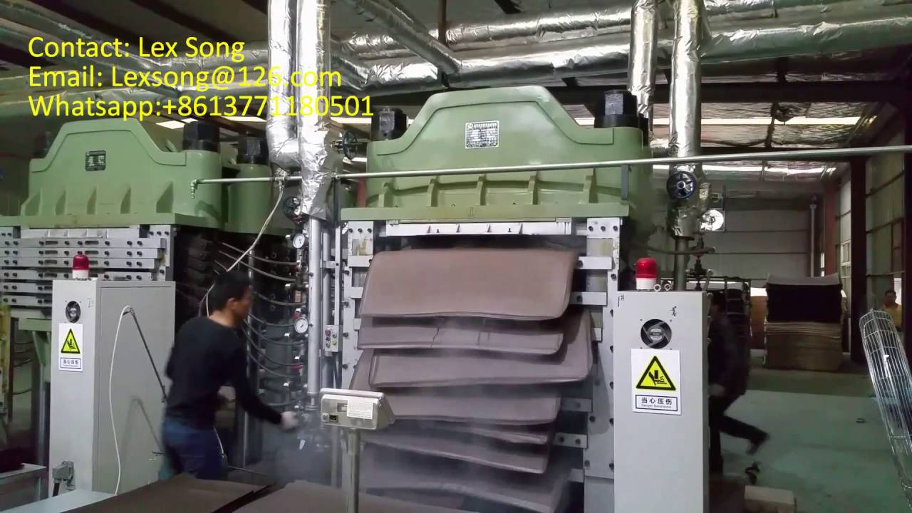 f4220f87e98 Silent opening press machine for EVA foam sheet. - YouTube