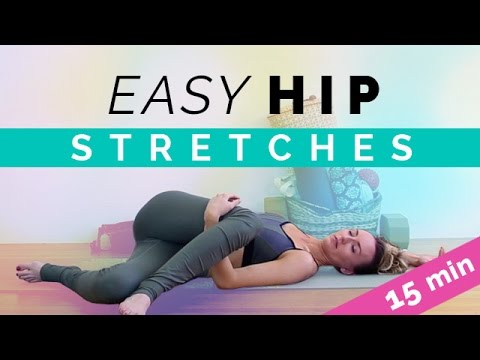Easy Hip Opening Stretches (15-min) Hip Stretch Yoga For Pain Relief & Flexibility For Beginners