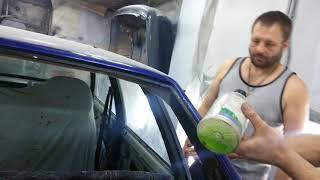Ставим заднее стекло в автомобиль ВАЗ 21099