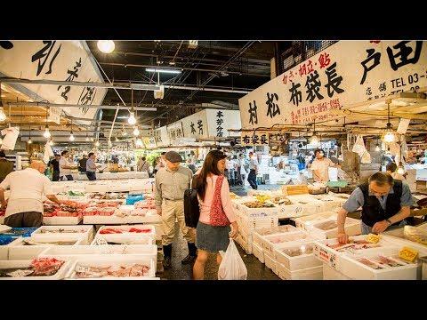 Японский рынок рыбы и морепродуктов Цукидзи