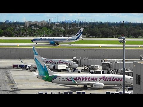 Plane Spotting At KFLL Fort Lauderdale Hollywood International Airport With Amtrak Florida Part 1