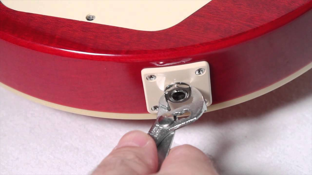small resolution of epiphone non rotating output jack youtube epiphone les paul input jack wiring