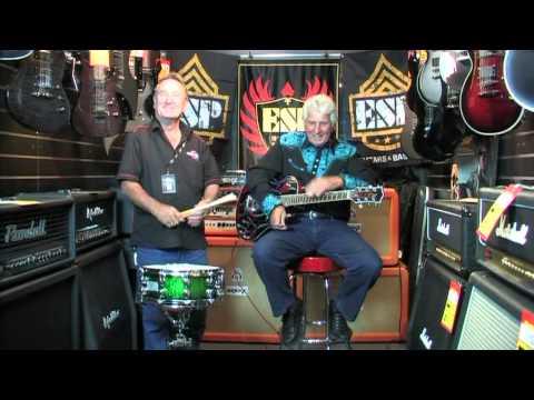 Johnny Mac at John Reynolds Music store Adelaide with Ali Kat Guitars