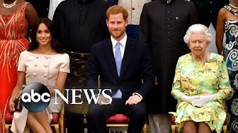 Queen Elizabeth announces 'period of transition' for Prince Harry and Meghan Markle   Nightline