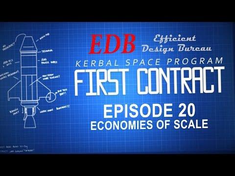 Kerbal Space Program (0.24 Stock Career) 20 - Economies of Scale