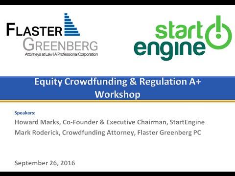 Equity Crowdfunding & Regulation A+ Workshop Webinar