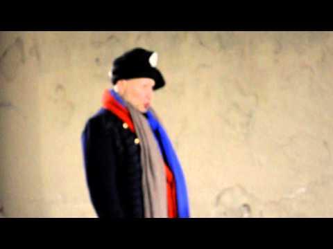Man singing falsetto in public