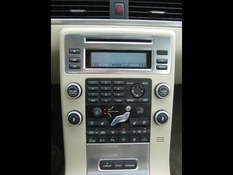 How to remove 2008 Volvo S80 DIC a/c radio display - YouTube