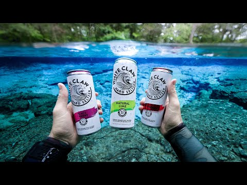 found-white-claw-drinks-while-scuba-diving-in-the-river!-(ginnie-springs)