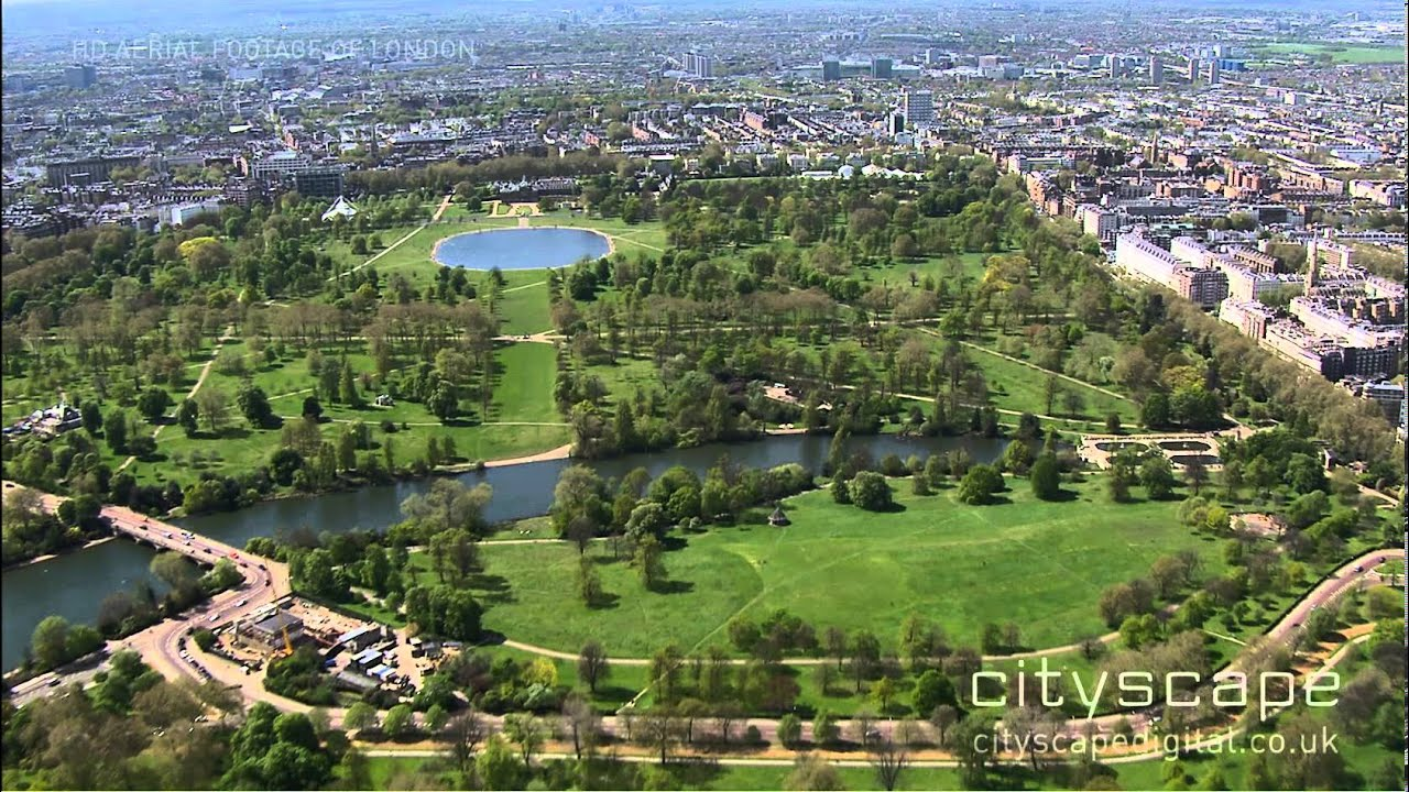 Hyde Park London Aerial View